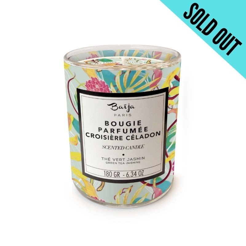Scented Candle with natural wax Croisière Céladon